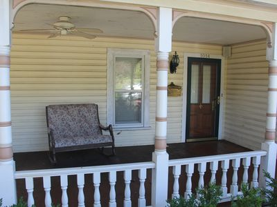 Back porch-BBQ and sitting area, twin rocking chair