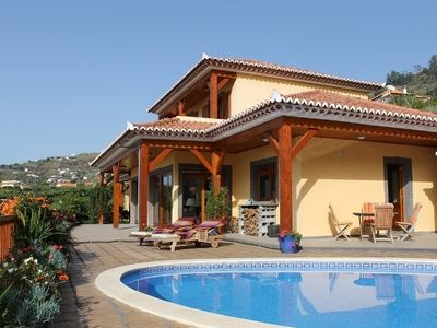 Calheta villa rental - and the front of the house
