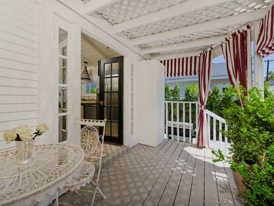 West Hollywood villa rental - porch perfect for coffee in the morning, cocktails in the evening