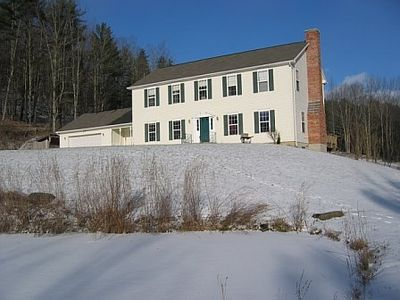 Front of house, Winter. Enjoy sledding out back and nearby ski resorts.