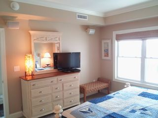 Belmont Towers Ocean City condo photo - Left Side of Bedroom 2. Dresser, HD TV DVD Windows have view of pool