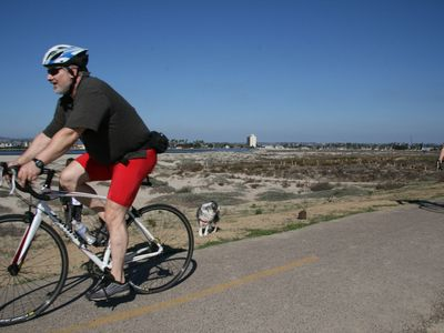 Bike Trial runs to Sea World, Fiesta Island, Mission Bay, & Mission Valley