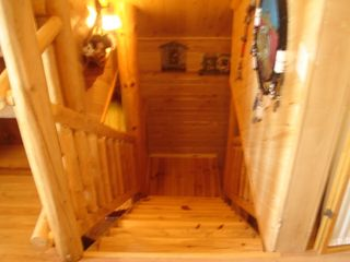 Orr cabin photo - stairs from loft area
