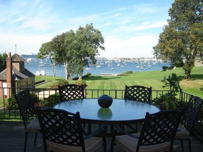 waterfront mansion carriage house on newport harbor