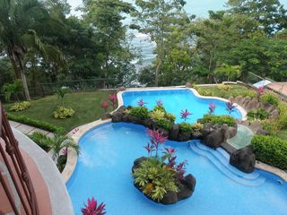 Punta Leona condo photo - Pool with Ocean below