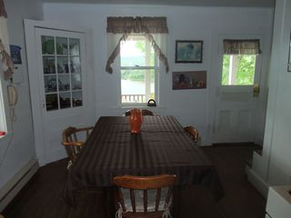 Margarees farmhouse photo - Dining with river view