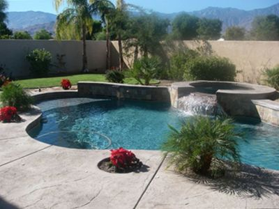 Rancho Mirage house rental - Private Backyard Pool, No Golf Balls flying into our yard!