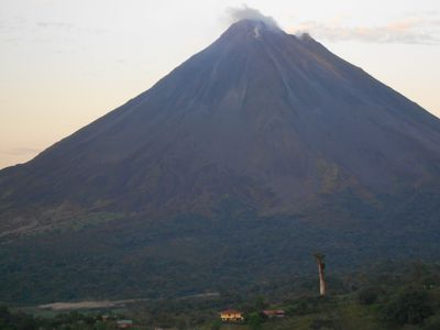 Volcano Arenal, just 7 km away