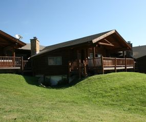 Big Sky cabin photo - High Altitude Property Management - Bluegrouse Condominium - Back Deck