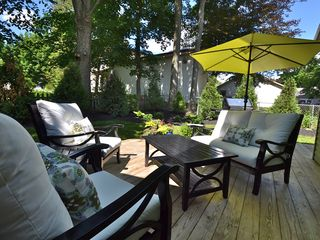 Back deck is a beautiful spot to relax and enjoy the afternoon.