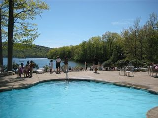 Big Boulder house photo - View of Pool & Beach at the Lake Mountain Club