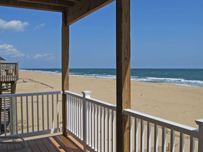 Overlookng the ocean & beach from Second floor decks