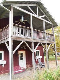 Waynesville house rental - Guests get to enjoy the entire home with a large yard & playhouse