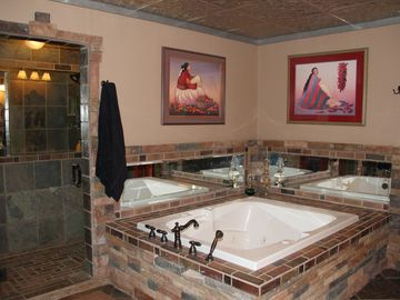 Master bath with luxurious spa like amenities