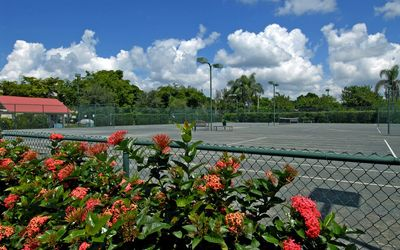 3 Lighted HarTru Tennis Courts