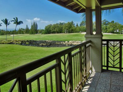 Catch a glimpse of golfers from the master lanai