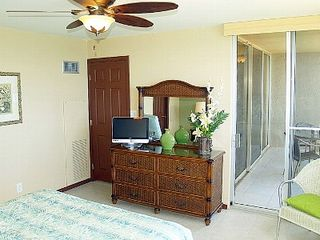Kahana condo photo - Master Bedroom has HDTV, Lanai access, & ocean views!