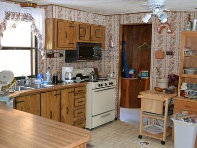 Cooper Landing cabin rental - Main House Kitchen & Dining Bar