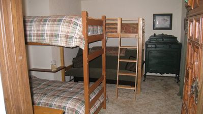 Twin Bunks in second bedroom with sliding door to boat dock!