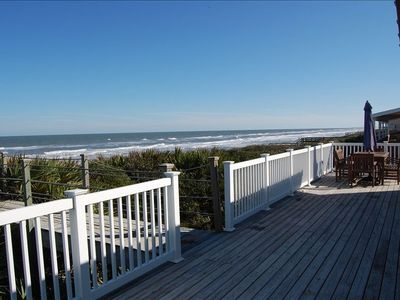 A beautiful view of the beach from the back deck.