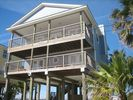 Front of our beautiful beach retreat - Galveston house vacation rental photo