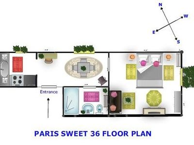Paris Sweet 36 floor plan