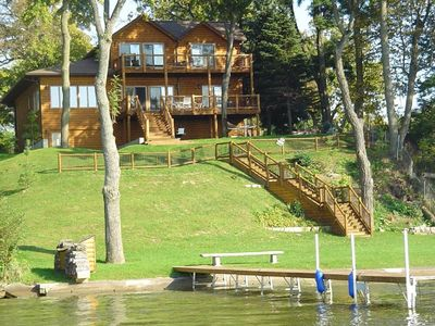 Rustic Luxury Log Home on the Lake, Cedar Lake, IN, Boating near Chicago, IL
