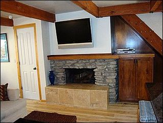 Aspen condo photo - Wood Burning Fireplace in Living Room