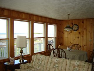 Biddeford house photo - Living/dining room looking out at beach