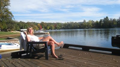 Read, relax or email from the dock (wireless internet reaches here)