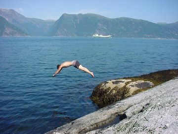 Swimming in the Sognefjord
