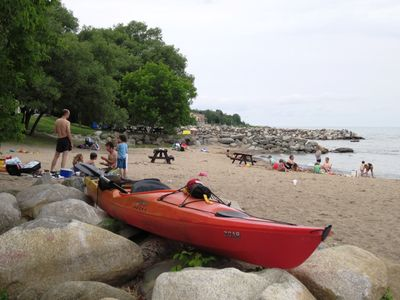 Craigleith Beach 3 minute drive from Blue Pioneer Chalet Collingwood, Blue Mtn.