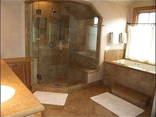 Snowmass Village house photo - Master Bath with Jacuzzi tub and steam shower