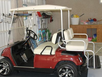Golf cart included in rental