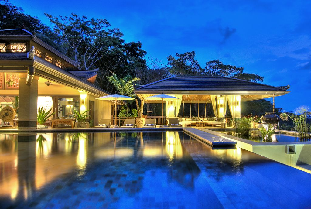 Luxury balinese rainforest villa with ocean vrbo for Mansions in costa rica