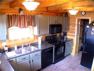 Golden Valley cabin photo - Fully equipped kitchen & tall chair breakfast area