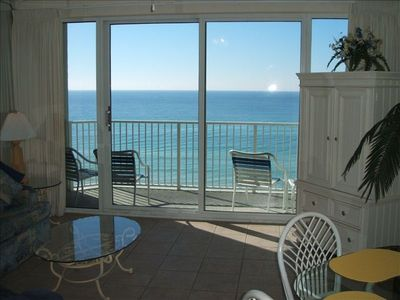 Living Area over looking the Gulf of Mexico from the 7th floor.
