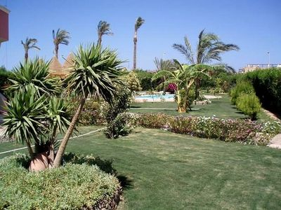 Hurghada apartment rental - Great garden of the apartment Apt in ground floor)