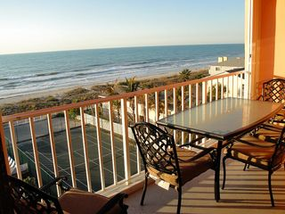 Indian Rocks Beach condo photo - Master bedroom view - top floor private balcony to Gulf & beaches