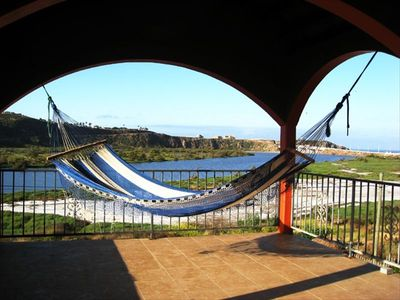 enjoy a siesta nap on the confy hammock!