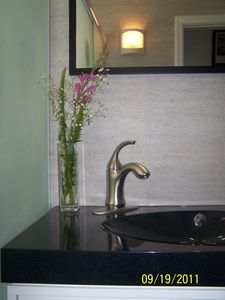 Copacabana condo rental - All 3 full baths have same double sinks w/ drawers, same fixtures & tiled walls