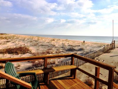 Bethany Beach townhome rental - View from the main deck overlooking the dunes and beach
