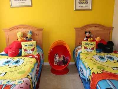 Haines City villa rental - Spongebob room