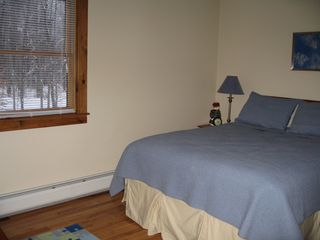 Jay Peak house photo - queen bed in bunk room - great for parents and 1-2 children