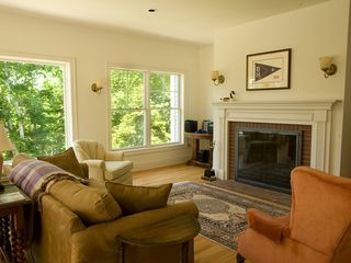 Boothbay Harbor house photo - Livingroom With Oversized Fireplace