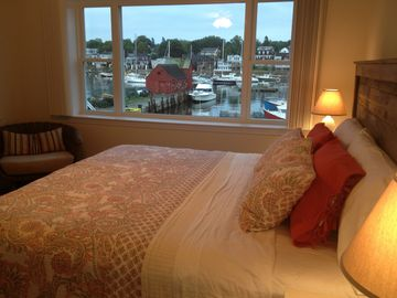 Rockport apartment rental - View of Motif #1 and Rockport Harbor from master bedroom