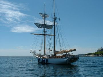 Schooner at rest, Mackeral Cove, Bailey Island.