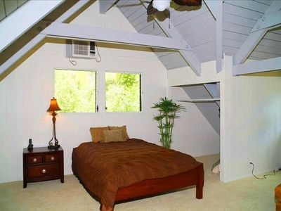 2nd upstairs bedroom with AC!  Each upstairs bedroom offers 2 queens!
