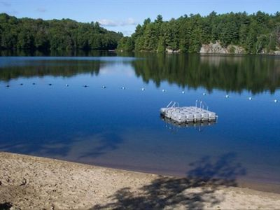 Our sandy beach on the shores of Otter Lake among the cleanest lakes in Ontario.