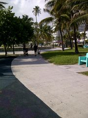 South Beach condo photo - Walk and bike trail across from the building